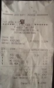 Here's our receipt.  I called the number at the top.